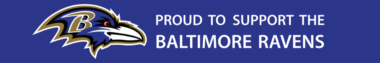 Baltimore Ravens Support Banner