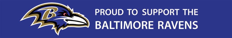 Baltimore Ravens Support Banner